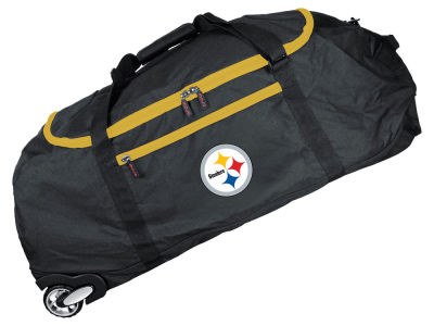 Pittsburgh Steelers Mojo 36in Checked In Rolling Duffel