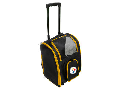 Pittsburgh Steelers Mojo Pet Carrier Premium Bag with Wheels