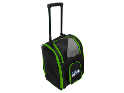 Seattle Seahawks Mojo Pet Carrier Premium Bag with Wheels