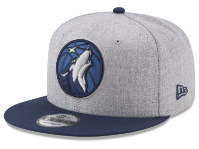 Minnesota Timberwolves New Era NBA Heather 2Tone Current 9FIFTY Snapback Cap