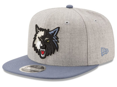 Minnesota Timberwolves New Era NBA Heather Action 9FIFTY Snapback Cap