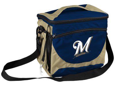 Milwaukee Brewers Logo Brands 24 Can Cooler
