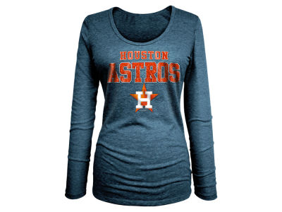 Houston Astros 5th & Ocean MLB Women's Glitter Long Sleeve T-Shirt