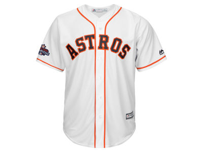 Houston Astros Majestic 2017 MLB Men's World Series Champ Team Patch Replica Cool Base Jersey