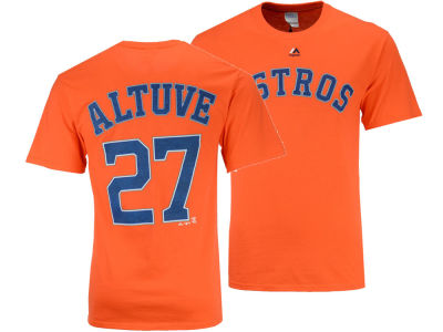 Houston Astros Jose Altuve Majestic MLB Men's Official Player T-Shirt