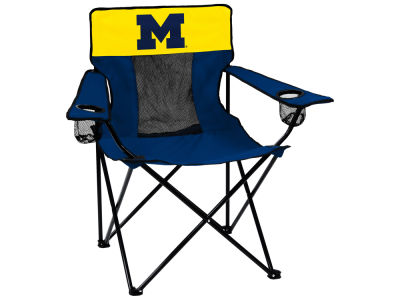 Michigan Wolverines Logo Brands Elite Chair