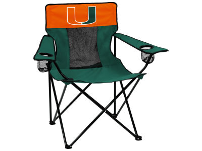 Miami Hurricanes Logo Brands Elite Chair