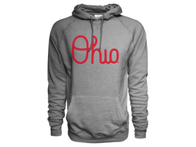 Ohio State Buckeyes J America NCAA Men's Vintage Tri-blend Hooded Sweatshirt