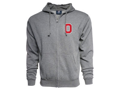 Ohio State Buckeyes J America NCAA Men's Vintage Tri-blend Full Zip Sweatshirt