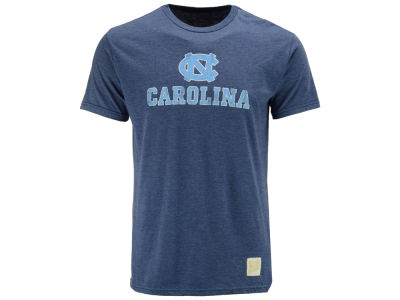 North Carolina Tar Heels Retro Brand NCAA Men's Dual Blend Midsize Logo T-Shirt