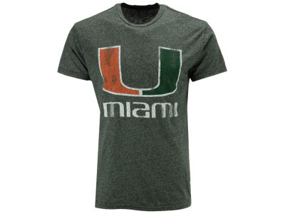 Miami Hurricanes Retro Brand NCAA Men's Retro Mock Twist Team Logo T-Shirt