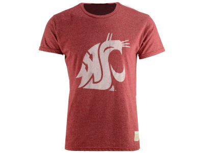 Washington State Cougars Retro Brand NCAA Men's Retro Mock Twist Team Logo T-Shirt