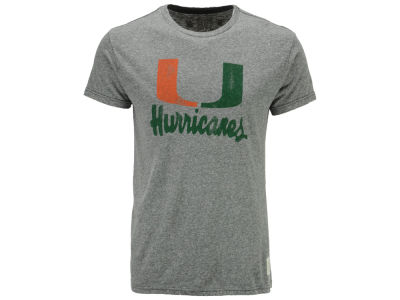 Miami Hurricanes Retro Brand NCAA Men's Retro Logo Tri-blend T-Shirt