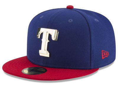 Texas Rangers New Era MLB Golden Finish 59FIFTY Cap