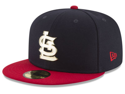 St. Louis Cardinals New Era MLB Golden Finish 59FIFTY Cap