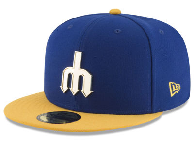 Seattle Mariners New Era MLB Golden Finish 59FIFTY Cap