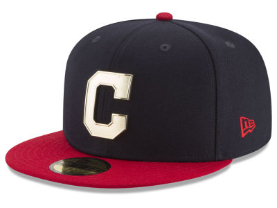 Cleveland Indians New Era MLB Golden Finish 59FIFTY Cap