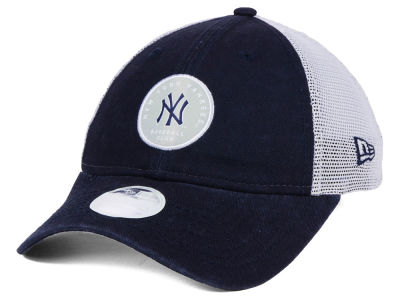 New York Yankees New Era MLB Women's Washed Trucker 9TWENTY Cap