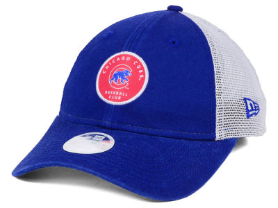 Chicago Cubs New Era MLB Women's Washed Trucker 9TWENTY Cap