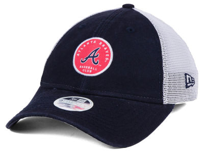 Atlanta Braves New Era MLB Women's Washed Trucker 9TWENTY Cap