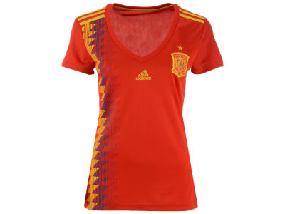 Spain adidas Women's National Team Home Stadium Jersey