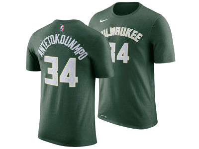 Milwaukee Bucks Giannis Antetokounmpo Nike NBA Youth Icon Name and Number T-Shirt