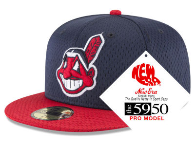 Cleveland Indians New Era MLB Retro Classic Batting Practice 59FIFTY Cap 80ca8224bfe