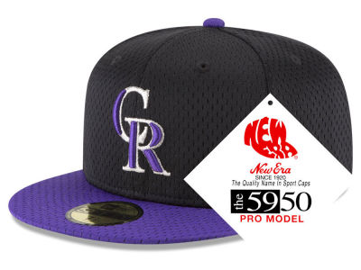 Colorado Rockies New Era MLB Retro Classic Batting Practice 59FIFTY Cap