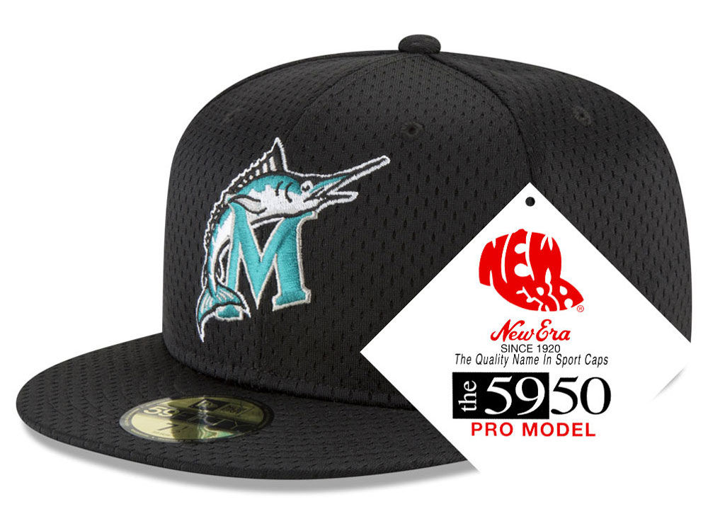 Florida Marlins New Era MLB Retro Classic Batting Practice 59FIFTY Cap  75021959c39