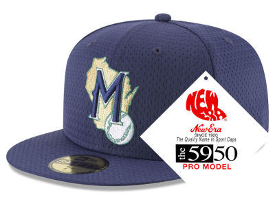 Milwaukee Brewers New Era MLB Retro Classic Batting Practice 59FIFTY Cap
