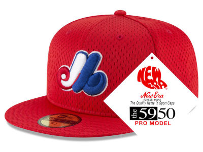 Montreal Expos New Era MLB Retro Classic Batting Practice 59FIFTY Cap