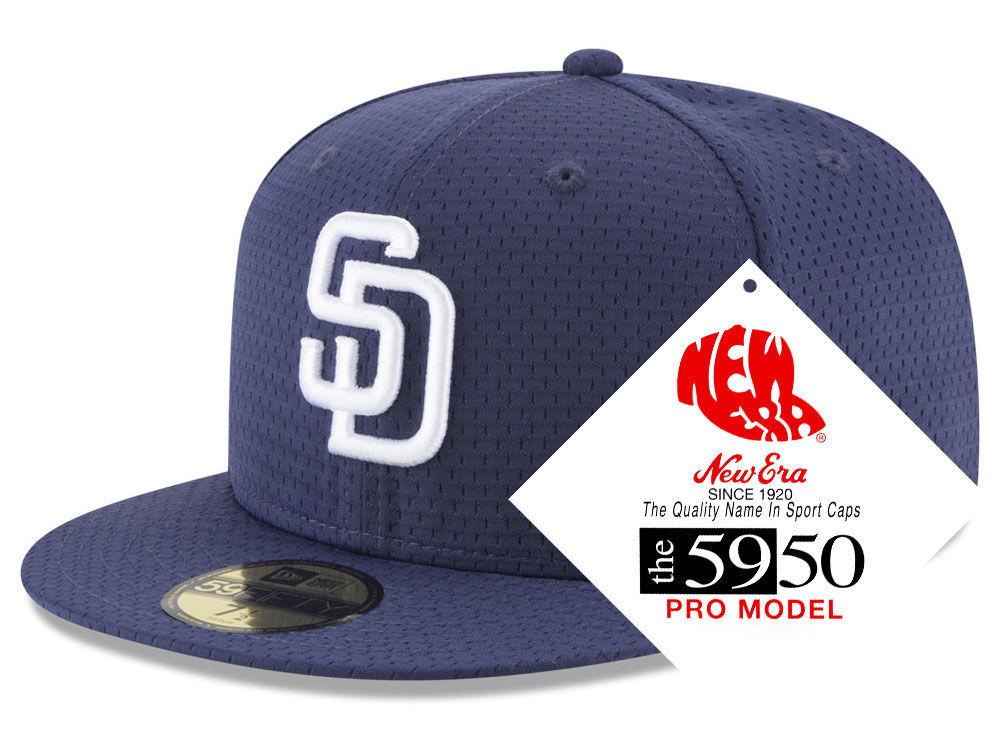 f8e9565c567 San Diego Padres New Era MLB Retro Classic Batting Practice 59FIFTY Cap