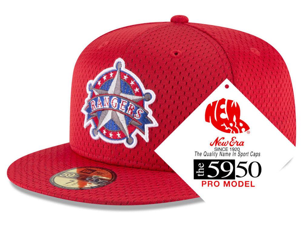 7f43fd3bd45 Texas Rangers New Era MLB Retro Classic Batting Practice 59FIFTY Cap ...