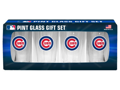 Chicago Cubs 4 Pack Pint Set