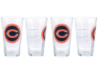 Chicago Bears 4 Pack Pint Set