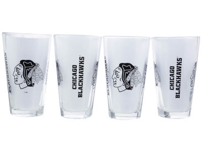 Chicago Blackhawks 4 Pack Pint Set