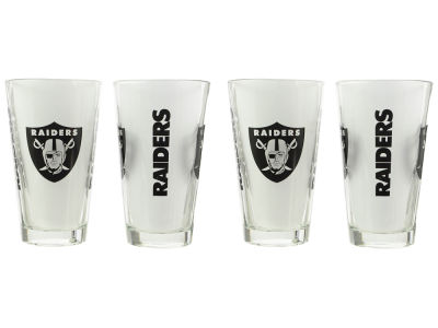 Oakland Raiders 4 Pack Pint Set