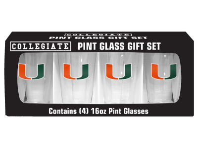 Miami Hurricanes 4 Pack Pint Set