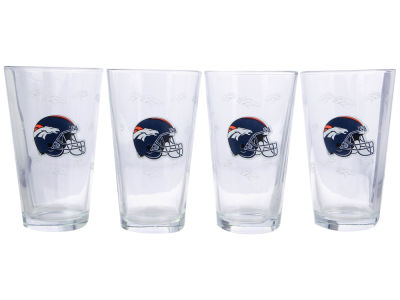 Denver Broncos 4 Pack Pint Set