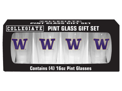 Washington Huskies 4 Pack Pint Set