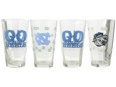 North Carolina Tar Heels 4 Pack Pint Set