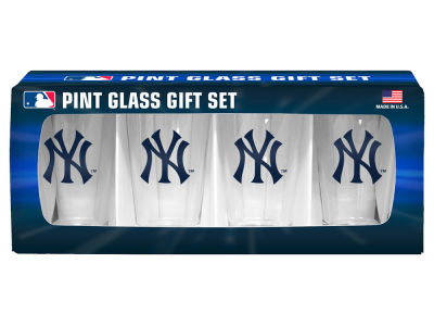 New York Yankees 4 Pack Pint Set