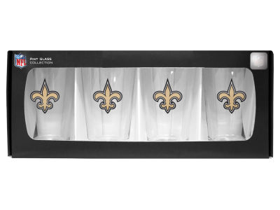 New Orleans Saints 4 Pack Pint Set