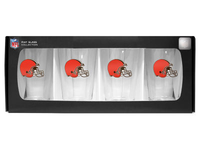 Cleveland Browns 4 Pack Pint Set