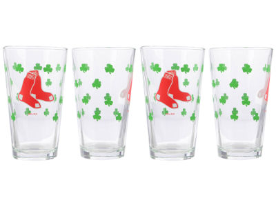 Boston Red Sox 4 Pack Pint Set