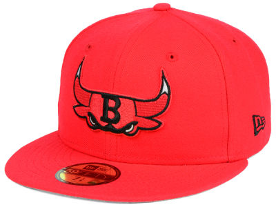 Chicago Bulls New Era NBA Combo Logo 59FIFTY Cap