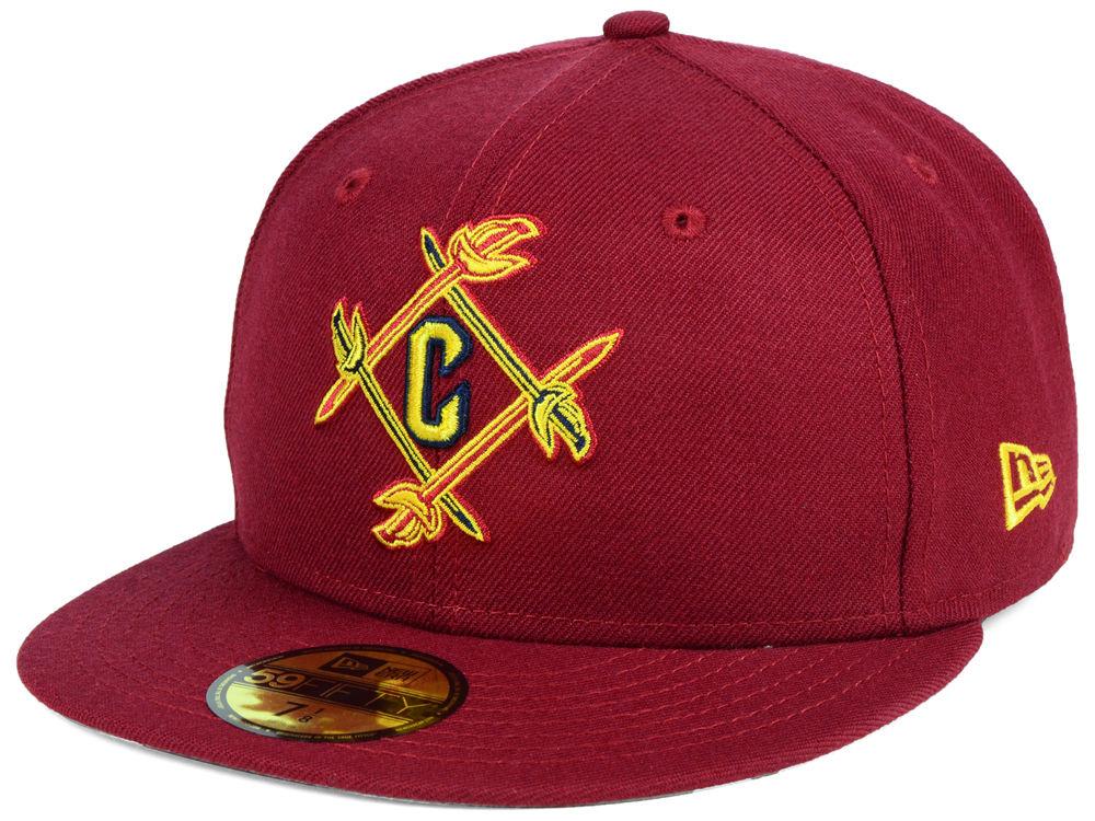 Cleveland Cavaliers New Era NBA Combo Logo 59FIFTY Cap  e6d42009295f