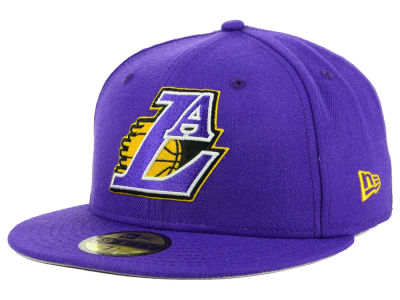 Los Angeles Lakers New Era NBA Combo Logo 59FIFTY Cap