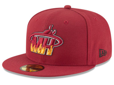 Miami Heat New Era NBA Combo Logo 59FIFTY Cap