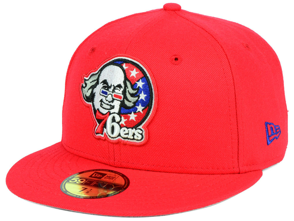 e58c682758a Philadelphia 76ers New Era NBA Combo Logo 59FIFTY Cap